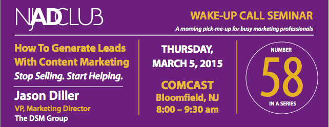 Wake-Up Call Seminar: How to Generate Lead With Content Marketing